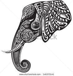 Tribal Elephant Coloring Pages | Tribal Elephant Backgrounds Tumblr Of a tribal totem animal