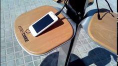 Excelente idea por si te quedas sin bateria en el móvil o celular: cargador solar gratuito. #fotovoltaica