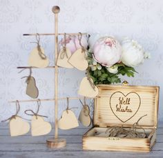Wedding Guest Book With Wood Tree Rustic Well by braggingbags, $69.99