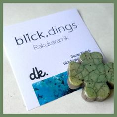 Raku-Kleeblatt.Magnet Place Cards, Place Card Holders, Leaf Clover