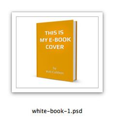 how to make a 3D ebook cover