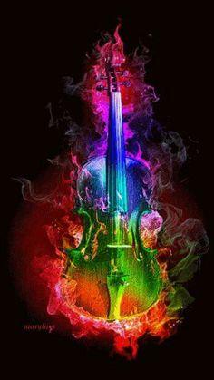 Questa immagine ripressenta là felicità que la musica ci dà#i love violin