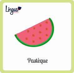 sandia/ Pastèque - Frutas en Francés/ Fruits en Français - Lingua Institute