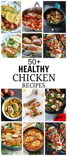 These 50 Healthy Chicken Recipes will help you to prepare your dinner. These chicken recipes are versatile, gluten-free, paleo friendly and easy to cook.