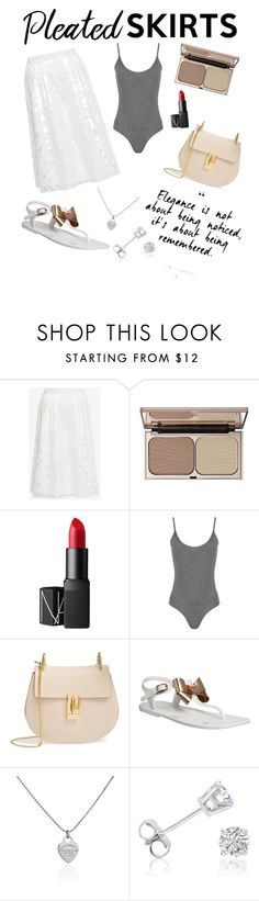 """""""Pleated Skirts"""" by hannah-mold ❤ liked on Polyvore featuring Ted Baker, Charlotte Tilbury, NARS Cosmetics, WearAll, Chloé, Tiffany & Co., Amanda Rose Collection and pleatedskirts"""