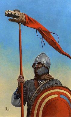 Late Roman 'Draconius' standard bearer of the Primani Legion.