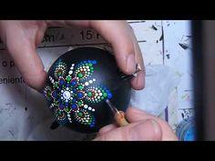 How to paint Mandala for BEGINNERS! #4 -Mandala Christmas Ornaments(medium hard) - YouTube