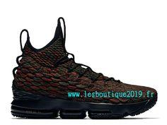 newest collection e1f69 61242 Nike Lebron 15 LMTD Rouge Noir Chaussure de BasketBall Pas Cher Pour Homme  897650-900
