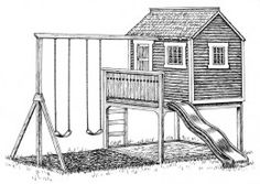 Planning and Building a Playhouse - Playhouse Plans - Ideas and