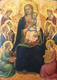 Tommaso del Mazza — The Madonna and Child, : The Musée du Petit Palais, Avignon. Symbolic Art, Italian Paintings, Madonna And Child, Goldfinch, Guardian Angels, Art Studies, 14th Century, Religious Art, Some Pictures
