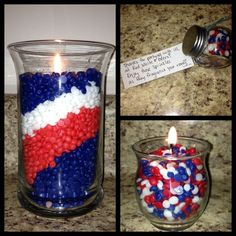 Patriotic Centerpiece, patriotic party favors.