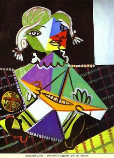 Pablo Picasso. Girl with a Boat (Maya Picasso). Olga's Gallery.