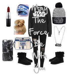 """May the Force be with you"" by isabelle2015 on Polyvore featuring Tee and Cake, UGG Australia, MAC Cosmetics and Casetify"