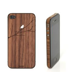 eu.Fab.com | Bird Branch iP4/4S Cover Walnut