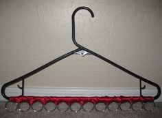Scarf hanger. I need to make this.