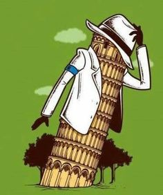 #Michael Jackson Leaning Tower of Michael LOL!