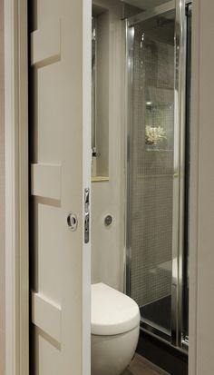 Wood Sliding Closet Doors, Internal Sliding Doors, Sliding Pocket Doors, Barn Doors, Bathroom Doors, Bathroom Layout, Modern Bathroom, Small Bathroom, Bathroom Ideas