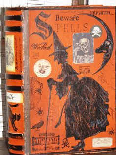 Halloween Witch's Book of Spells from Curious Goods by Janie D Mattern--