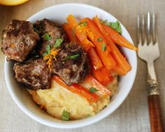 moroccan meatballs with citrus glazed carrots