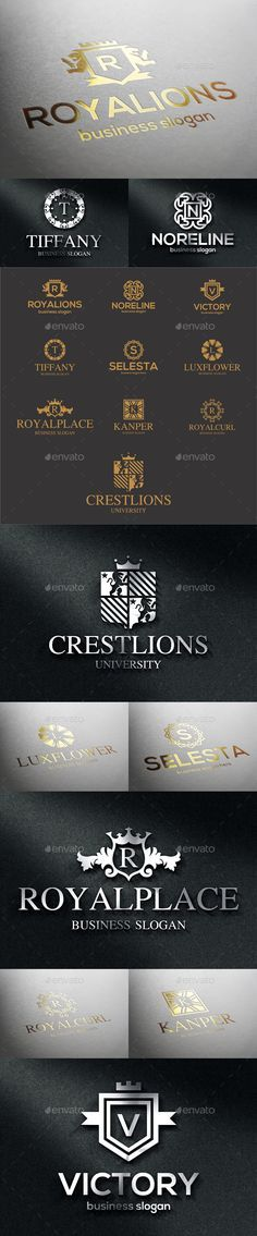 Crest Badge Boutique Luxury Logo Emblems Royalty Emblems.- Retro Vintage royal luxury logotypes. Monograms / Crests / Fashion Luxury elegant vector logo templates. An excellent logo templates highly suitable for Real Estate, Boutique, Leisure business, Law firm, Judical agencies, Luxury restaurant, Markets, Shops,… (Industry with classy, elegant and luxury style )