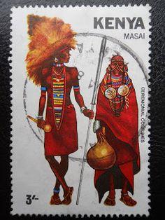 traditional/folk costumes: Stamps / Costumes - Kenya / Kenija