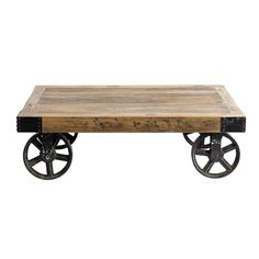 Nordal Sofabord - Coffee Table on Wheels - Wood Industrial Style Furniture, Industrial Table, Rustic Table, Industrial Design, Coffee Table With Wheels, Coffe Table, Dining Table, Recycled Furniture, Handmade Furniture