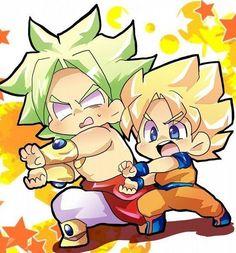 Goku y Broly chibi