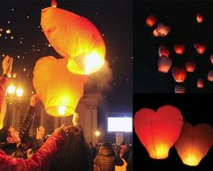 Out-do the moon and stars with bright lights you won't find on any city street. Grab 10 red heart-shaped flying lanterns for $15 from crazysales. Feel confident knowing the lanterns are flame retardant and 100% biodegradable.