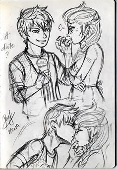 [Sketch] Jelsa - A date by buf309.deviantart.com on @deviantART