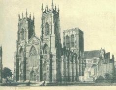 An old picture of York Minster
