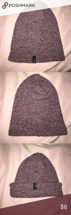 Beanie Redish/burgundy white beanie. Vans Accessories Hats