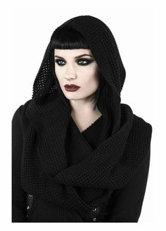 Killstar Helsinki Hooded Scarf The awesome chunky knitted Helsinki scarf from Killstar features a hood for extra cosiness. Perfect for wrapping up warm without compromising your look, this gothic bl. Helsinki, Killstar Clothing, Hooded Scarf, Gothic Outfits, Edgy Outfits, Winter Looks, Fall Winter, Autumn, Comfortable Fashion
