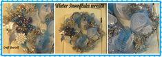 Winter Snowflake Mesh Wreath - craftyourself.com