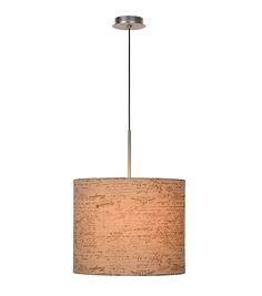 Grote brocante hanglamp Cida, Boekrol print - Lampgigant.be