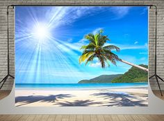 Amazon.com : SUSU 7x5ft(220x150cm) Summer Photo Backdrop Blue Sky Beach Photography Backgrounds Sunshine Photo Studio Video : Camera & Photo