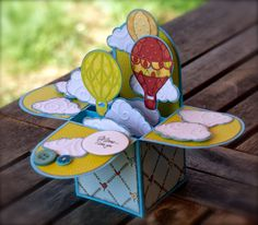 Mom I love you - Scrapbook.com - this pop up box card is a gift unto itself!