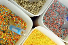 from dippin' dots to carbonated ice creams - cool Dessert Boxes, Dessert For Dinner, Cute Desserts, Frozen Desserts, Frozen Yogurt Bar, Dippin Dots, Colorful Drinks, Yogurt Smoothies, Crazy Cakes