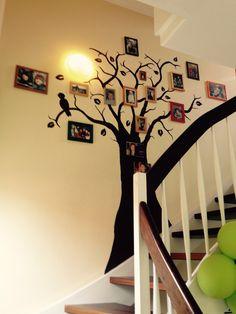 Wohnzimmer Deko Selber Basteln, Wanddeko wohnzimmer auf bilderwand baumstämme und