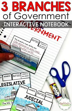 3 Branches of Government Activities and Mini Unit This fun 3 branches of government foldable activity is perfect for helping grade, and middle school students learning the roles of each branch. The interactive note Social Studies Projects, 3rd Grade Social Studies, Social Studies Notebook, Social Studies Worksheets, Social Studies Classroom, Social Studies Activities, Teaching Social Studies, Student Learning, Teaching Themes