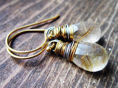 Reserved for Nanci  Golden Rutilated Quartz by thelittlehappygoose,