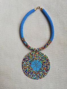 ON SALE Maasai Beaded necklace, African necklace, Beaded jewelry for women, Pendant Necklace, Beaded necklace, Blue necklace, Tribal necklac #WomenJewelry #MaasaiNecklace #AfricanNecklace #BlueNecklace #PendantNecklace #HandmadeNecklace #BeadedJewelry #TribalNecklace #BeadedNecklace #Necklace