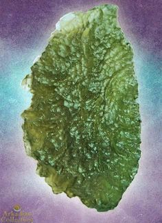 Unique Moldavite Specimen from the Chlum region of Czech Republic- 46 carats!  | Arkadian Collection