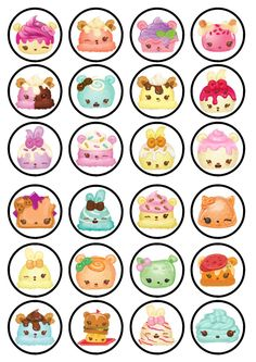 Num Noms Edible Wafer Rice Paper Cake Cupcake Toppers x 24 by EdibleCakeTopppers on Etsy https://www.etsy.com/uk/listing/492641223/num-noms-edible-wafer-rice-paper-cake