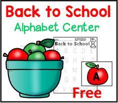 Back to School Alphabet Sensory Bin Center by LoveMariel | Teachers Pay Teachers