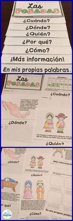 Teach and review the tradition of Las Posadas with this flip book. 2 versions included: all in Spanish and text in English (with tab titles in Spanish)