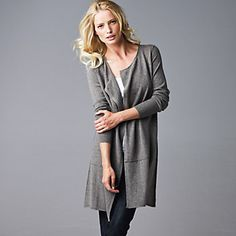 Cashmere Longline Cardigan - Knitwear | The White Company