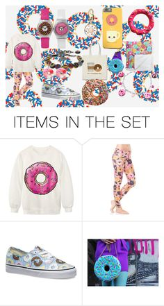 """""""Donuts"""" by jordanbond55 ❤ liked on Polyvore featuring art"""