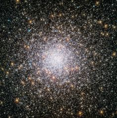 This spectacularly spherical cluster of stars is the globular cluster NGC 362. It resides in the outskirts of the Milky Way, where stars tend to be much older than their host galaxy. Surprisingly, the stars in this cluster appear to be 2-3 billion years younger than the Milky Way. Astronomers used the Hubble Space Telescope to capture this image, which is detailed enough to reveal individual stars. — Hanneke Weitering