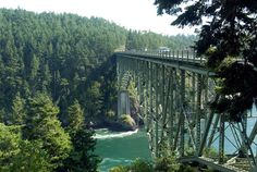 Deception Pass in Washington State!  Awesome views!