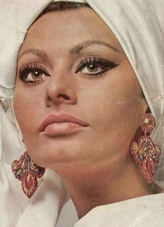 Sophia Loren..I love her liquid eyeliner makes her eyes so big..the classic Sophia Loren eye